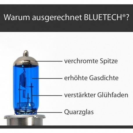 H4 BLUETECH® 9500 Kelvin Xenon Effekt 2er Set