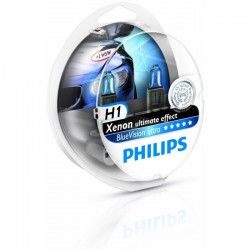 H1 Philips Blue Vision ULTRA Scheinwerferlampe 2er Set