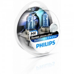 H4 Philips Blue Vision ULTRA Scheinwerferlampe 2er Set