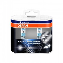H7 OSRAM NIGHT BREAKER UNLIMITED Scheinwerferlampe +110% mehr Licht 2er Set