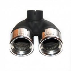 Smart 451 ab 10.2010 - 4.2012 2x 60mm Doppelendrohr aus Edelstahl + Befestigungsschelle