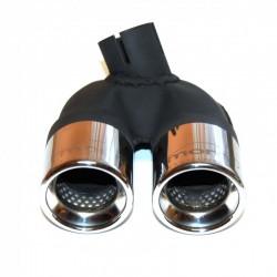 Smart 451 ab 4.2007 - 10.2010 2x 60mm Doppelendrohr aus Edelstahl + Befestigungsschelle